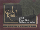 Pinot Noir<br>Willamette Valley<br>2012