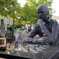Chess Board, Medford Oregon - Jean Haupt